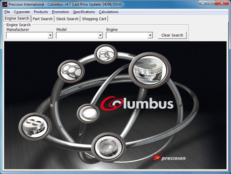 Main screen of Columbus