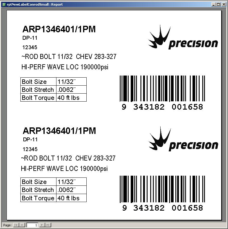 Label Maker Conrod Label