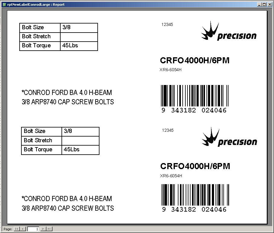 Label Maker Conrod Large Label