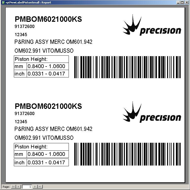 Label Maker Piston Small Label